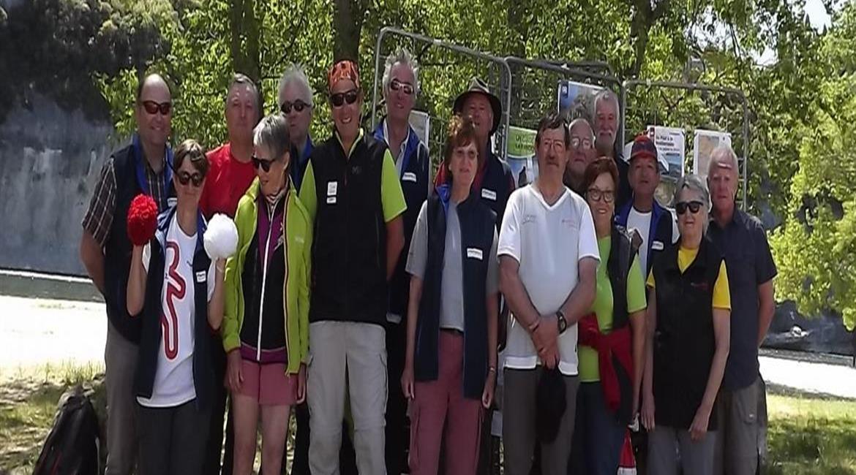 Itinérance sur le GR® 42 : Saint Martin d'Ardèche accueille Robert et Gisèle